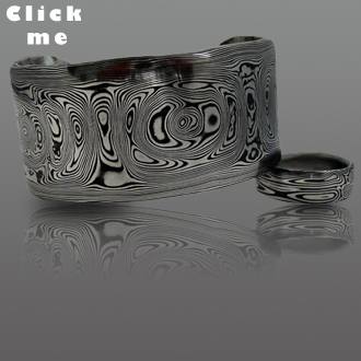 Damascus Steel Bangle Kar (click for Details)