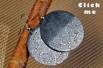 Damascus Steel Earring Hera's Jealousy (click for Details)