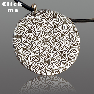 Damascus Steel Pendant Hera's Pride (click for Details)