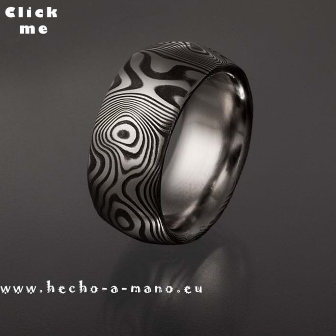 Damascus Steel Ring Thor (click for Details)