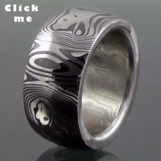 Damascus Steel Ring Dione's Ring (click for Details)