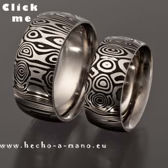 Damascus Steel Wedding Bands Eos' Dawn (click for Details)