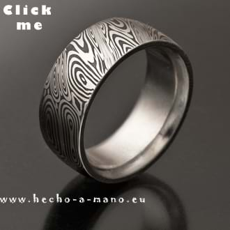 Damascus Steel Ring Themis (click for Details)