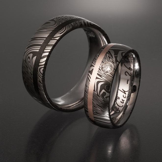 Steel Diamond Ring